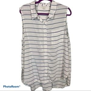 beachlunchlounge Collection Button Down tank XL
